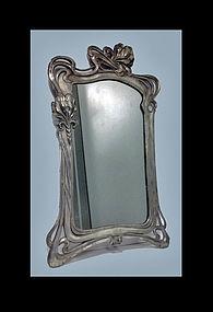 Art Nouveau Mirror, attr Argentor, Austria C.1900