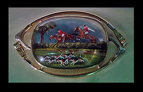 Very Fine Reverse Intaglio Crystal depicting `The Hunt�