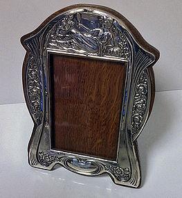 Art Nouveau Silver Photograph Frame, Birmingham 1906