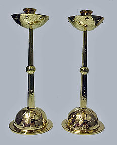 WMF Arts & Crafts Art Nouveau Jugendstil Candlesticks G