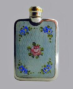 Sterling Enamel Perfume Flask C.1920