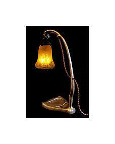 Art Nouveau Muller Frères art glass desk lamp, C.1910.