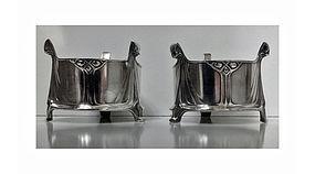 WMF Albin Muller Art Nouveau wine bottle holders