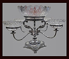 Old Sheffield Epergne English C.1840