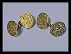 Antique 18K (tested) Cufflinks, English, C.1880.