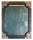 Large Japanese Sterling Silver, Enamel and Leather Photograph Frame