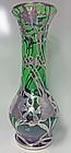 Art Nouveau Sterling Silver overlay Glass Vase, Alvin C.1900