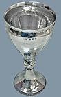 A.E. Jones hammered Sterling Silver Goblet, Birmingham 1909