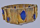 Archibald Dumbar 18K Lapis lazuli bracelet cuff, Amsterdam C.1970.