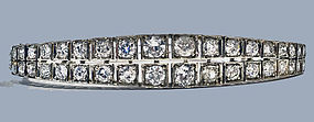 Antique 19th century Diamond Bangle, English C.1890.