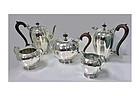Rare Indian Sterling Silver Tea & Coffee Set Hamilton & Co Calcutta