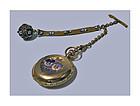 Gold, Enamel Diamond, Ladies Hunter Pocket Watch Elgin C1888