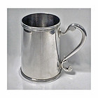 Rare Silver Mug, 18th cent Canadian or French Provincial. Maker�s mark