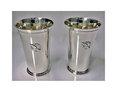 Pair of Tiffany New York Athletic Club Sterling Mint Julip Cups, C.193