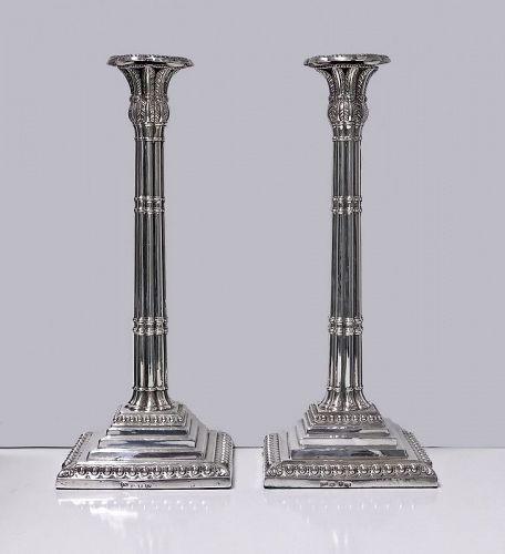 Georgian Silver Candlesticks, London 1759 John Carter