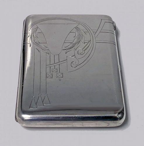 Russian Silver cigarette case, 1908-1926, Feodosii Ivanovich Pekin, Mo