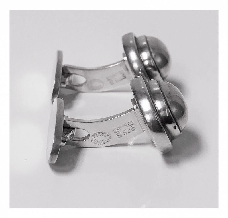 Georg Jensen Sterling Cufflinks designed by Harald Nielsen No 44B