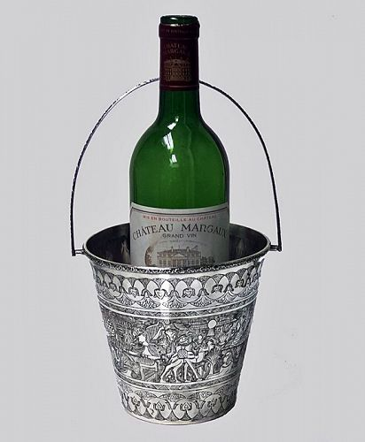Egyptian Silver Wine Bucket, C.1920