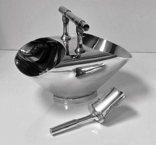 Christopher Dresser designed silver plate Scuttle C.1890, Walker & Hal