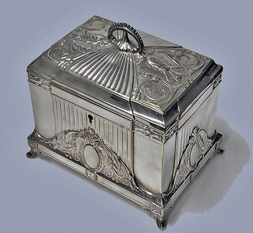 WMF Jewellery Box Jugendstil Secessionist Silver plate, Germany, C.190