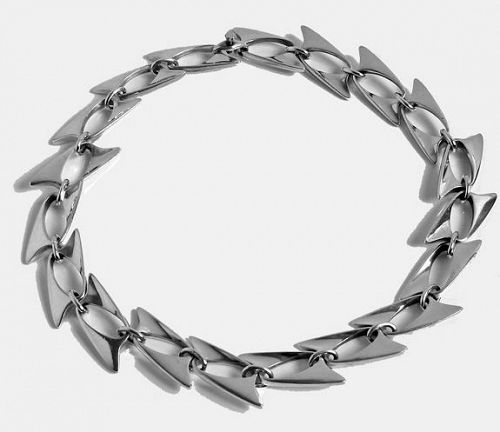 Georg Jensen Henning Koppel Sterling Necklace, Denmark C.1960