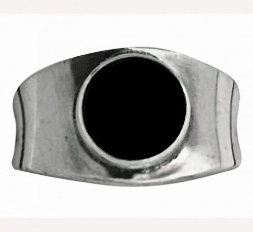 Georg Jensen Hematite Ring Sterling Silver, post 1945
