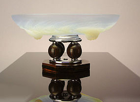 Art Deco Centerpiece Bowl French Etling Glass C.1930
