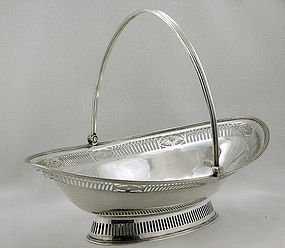 Antique Georgian Silver  Basket, London 1787 Wm Plummer