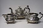 Irish Georgian Silver Tea Set Dublin 1820, W. Nowlan