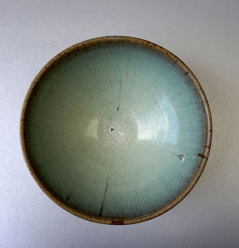 Yuan Dynasty Jun Yao Bowl with a Light Blue Glaze
