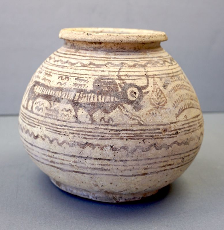 Indus Valley Large Decorated Jar, circa 2,500 BCE.