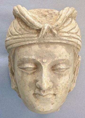 Gandhara Stucco Head of a Bodhisattva