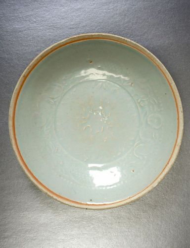 Southern Song Dynasty Qingbai Porcelain Bowl with a Moulded Pattern