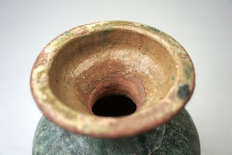 Han Dynasty Jar with Green and Amber Glaze