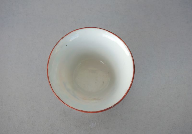 Rare 18th Century Bencharong Porcelain Teacup from Jingdezhen