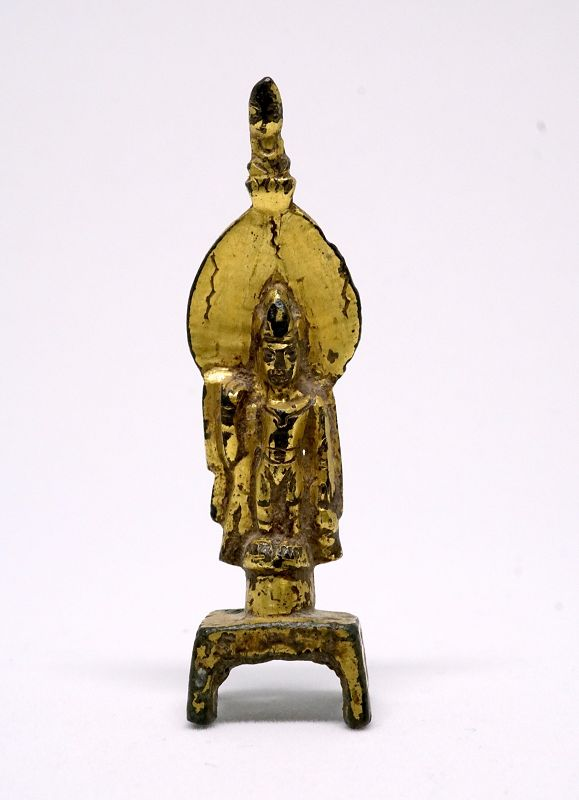 A Miniature Gilt-Bronze Figure of Avalokiteshvara (GuanYin), North Wei