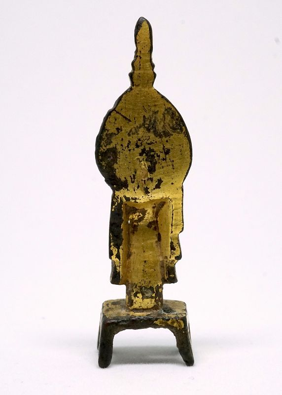 A Miniature Gilt-Bronze Figure of Avalokiteshvara (GuanYin), North Wei