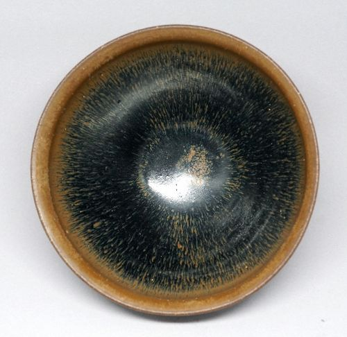 Song Dynasty Fine Jianyao Tea Bowl in Hare's Fur Glaze.