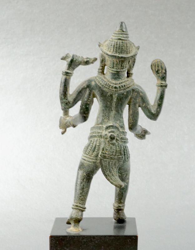 Vishnu Stepping Over the Sea, Bronze Statue, Khmer