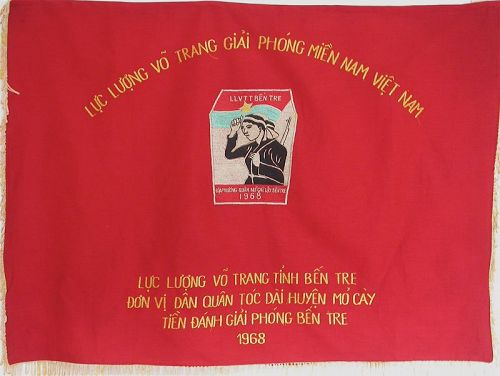 Vietnamese Embroidered Banner Celebrating the Librel of Women