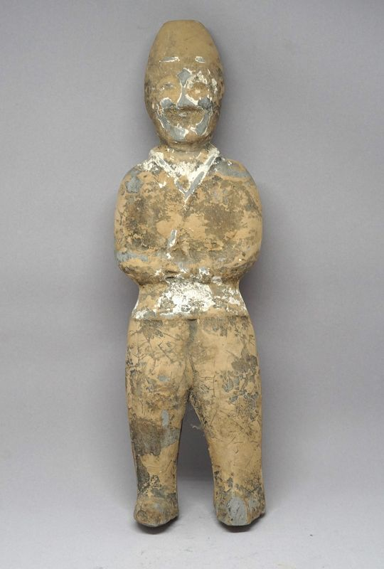 A Fine Pottery Tomb Figure of a Foreigner, Northern& Southern Dynastie