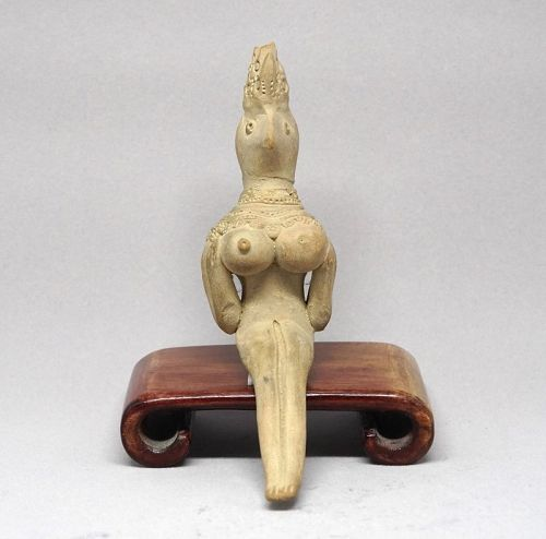 A Fine and Rare Indus Valley Terracotta Goddess