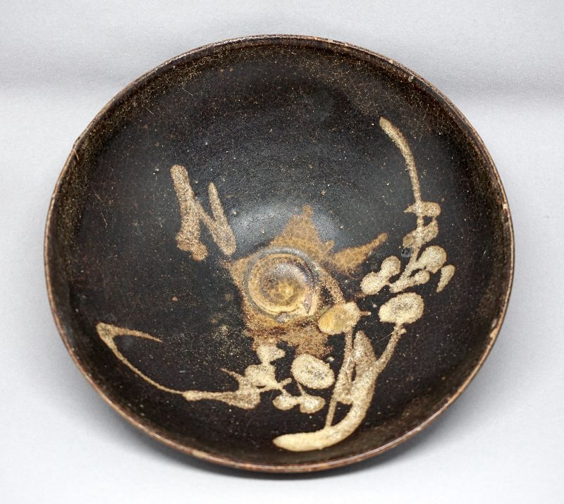 A Rare Southern Song Jizhouyao Tea Bowl with Plum Flowers
