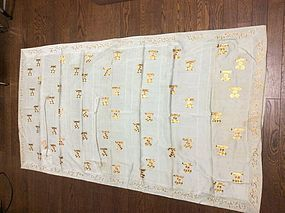 Rare silk Buddhist priest robes , Kesa. 19 th century