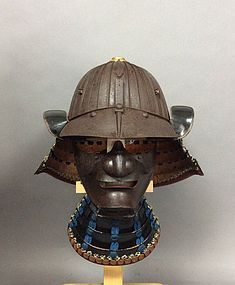Very fine Samurai Menpo and Kabuto armor , edo period
