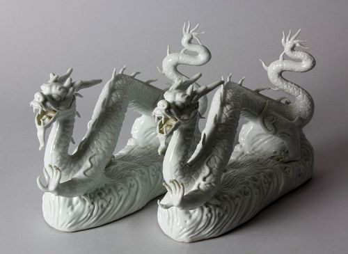 Japanese Five Finger Dragon Pair, Hirado Kiln H6