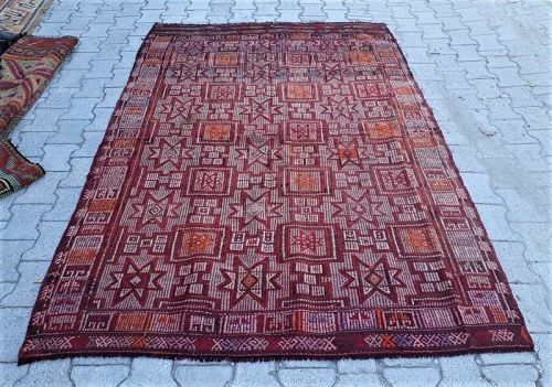 Turkish Aegean Yoruk Cicim Carpet