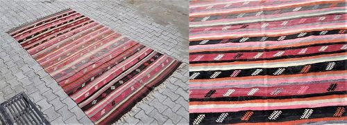 Turkish Anatolian Cicim Kilim