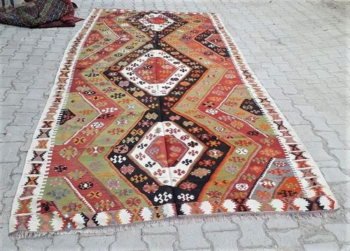 Turkish Anatolian Aksaray district Kirsehir Kilim