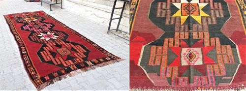 Turkish Kars Kurdish carpet